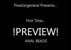 First time ANAL BEADS